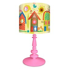 "Backyard Birdhouses 21"" H Table Lamp with Drum Shade"