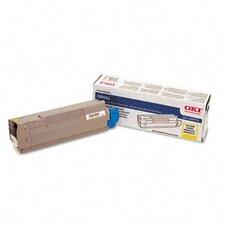 43487733 OEM Toner Cartridge, 6000 Page Yield, Yellow