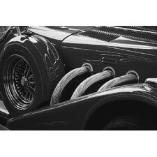 Black and White Vintage Car Photographic Print on Canvas