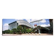 Panoramic Minute Maid Park, Texas Photographic Print on Canvas