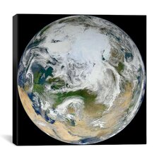Blue Marble - Arctic View Canvas Wall Art