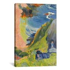 'Au-Dessus De La Mer 1889' by Paul Gauguin Painting Print on Canvas