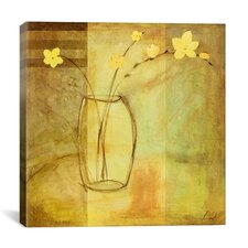 """""""Yellow Flowers in Vase"""" Canvas Wall Art by Pablo Esteban"""
