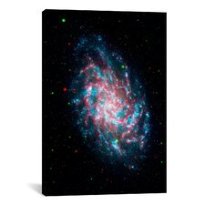 Astronomy and Space Young Galaxy M33 (Nasa) Photographic Print on Canvas