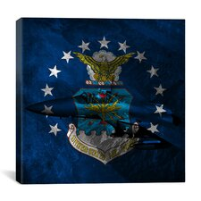 Air-Force Flag, F-15 Graphic Art on Canvas