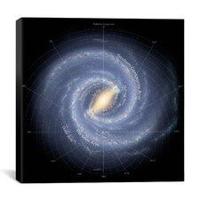 Annotated Roadmap of the Milky Way (NASA) Canvas Wall Art