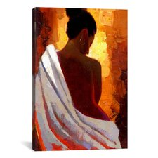 Crimson Nude by Keith Mallett Painting Print on Canvas