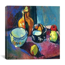 """""""Dishes and Fruit (1901)"""" Canvas Wall Art by Henri Matisse"""