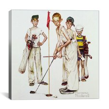 'Missed (Four Sporting Boys: Golf)' by Norman Rockwell Painting Print on Canvas
