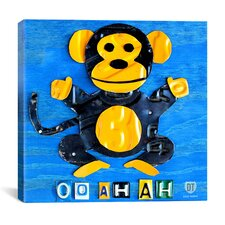 Oo Ah Ah the Monkey from Design Turnpike Canvas Wall Art