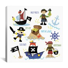 """""""Pirates and Ships"""" Canvas Wall Art by Erin Clark"""