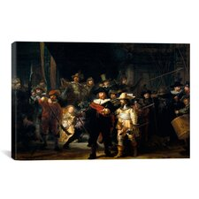 'Night Watch 1642' by Rembrandt Painting Print on Canvas