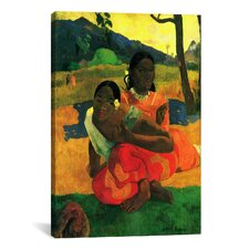 Nafea Faaipoipo (When are You Getting Married) 1892 by Paul Gauguin Painting Print on Canvas
