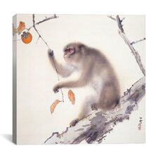 """""""Monkey"""" Canvas Wall Art by Hashimoto Kansetsu"""