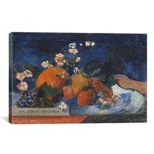 'Mona Mona, Savoureux' by Paul Gauguin Painting Print on Canvas