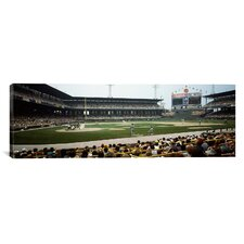 Panoramic Spectators Watching a Baseball Match in a Stadium, U.S. Cellular Field, Chicago, Cook County, Illinois Photographic Print on Canvas
