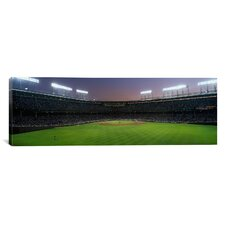 Spectators Watching a Baseball Match in a Stadium, Wrigley Field, Chicago, Cook County, Illinois Photographic Print on Canvas