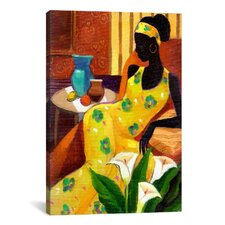 """""""The Blue Vase"""" Canvas Wall Art by Keith Mallett"""