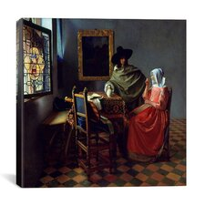 """""""The Wine Glass"""" Canvas Wall Art by Johannes Vermeer"""