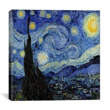 'The Starry Night' by Vincent Van Gogh Canvas Wall Art