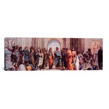 'School of Athens' (Panoramic) by Raphael Painting Print on Canvas