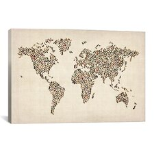 'Women's Shoes (Boots) World Map' by Michael Thompsett Graphic Art on Canvas