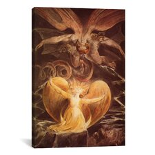 'The Great Red Dragon and the Woman Clothed with Sun 1805' by William Blake Painting Print on Canvas