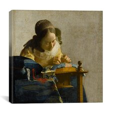 """""""The Lacemaker"""" Canvas Wall Art by Johannes Vermeer"""