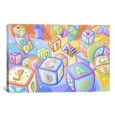 Kids Children Toy Blocks Canvas Wall Art