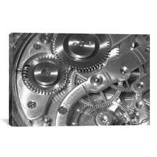Watch Mechanism Photographic Print on Canvas
