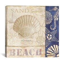 """White Sand Blue Sea II"" Canvas Wall Art by Veronique"