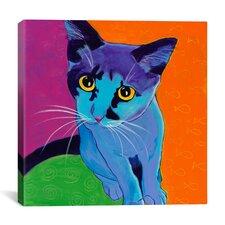 Kitten Blue Canvas Print Wall Art