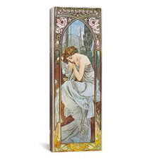 Nocturnal Slumber, 1899 Canvas Wall Art by Alphonse Mucha