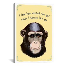 Monkey, Who's Fooling Who Canvas Wall Art by Christopher Rozzi