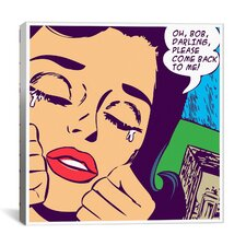 Come Back to Me Comic Book by Roy Lichtenstein Graphic Art on Canvas in Purple