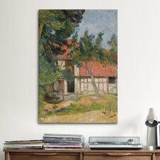 'Etable Pres de Dieppe, 1885' by Paul Gauguin Painting Print on Canvas