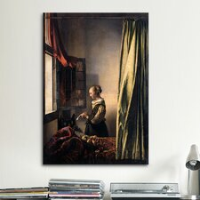 'Girl Reading a Letter at an Open Window' by Johannes Vermeer Painting Print on Canvas