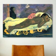 'Girl in Bed' Art by Paul Gauguin Painting Print on Canvas