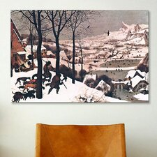 'Hunters in The Snow' by Pieter Bruegel Painting Print on Canvas