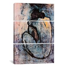Picasso Nude Pablo 3 Piece on Wrapped Canvas Set in Blue
