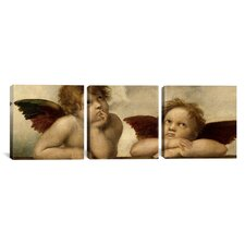 Raphael The Two Angels 3 Piece on Wrapped Canvas Set