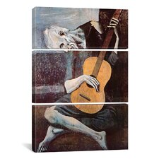 Picasso The Old Guitarist Pablo 3 Piece on Wrapped Canvas Set