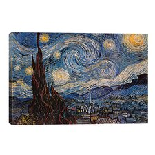 The Starry Night Canvas Print by Van Gogh