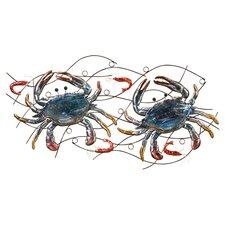 Metal Crab & Shrimp Wall Décor