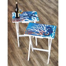 Foldable TV Tray Table (Set of 2)