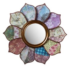 Floral Pattern on Pattern Wall Mirror
