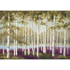 Wall Plum Forest Floor by Jill Schultz McGannon Painting Prints on Canvas