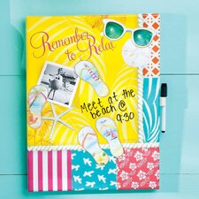 Dry Erase Memo Board with Magnets Calypso Summer