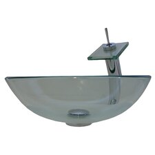 Glass Vessel with Drain and Faucet
