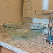 Bonificare Glass Vessel Bathroom Sink
